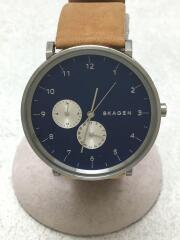 クォーツ腕時計/デジタル/レザー