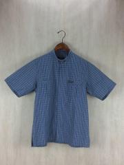半袖シャツ/2/コットン/BLU