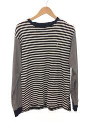 SOPHNET. ソフネット/SOPH-210057/スコーピオン刺繍ロングティーシャツ/L/ボーダー/綿