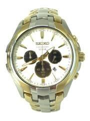 SEIKO セイコー/V175-0EK0/クロノグラフソーラー/腕時計/アナログ/ホワイト