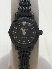 LOV-IN Bouquet/クォーツ腕時計/アナログ/ステンレス/BLK/BLK