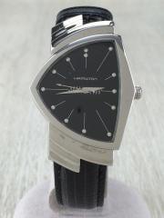 ベンチュラ/H244112/クォーツ腕時計/アナログ/レザー/BLK/BLK