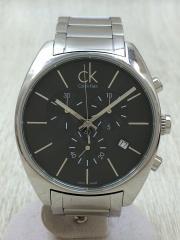 K2F271/クォーツ腕時計/アナログ/BLK