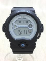 クォーツ腕時計/デジタル/ラバー/SLV/BLK