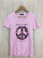 GDF13-A16/Tシャツ/44/コットン/ピンク/プリント/ゴスタールジフーガ