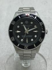 MILITANT/クォーツ腕時計/アナログ/--/BLK/SLV/092/300