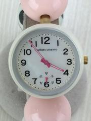 クォーツ腕時計/アナログ/WHT/マルチカラー
