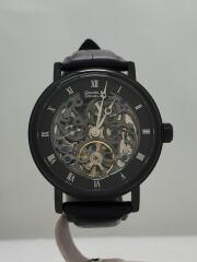 自動巻腕時計/アナログ/レザー/ブラック/DD8805