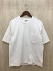 Tシャツ/3/コットン/WHT/無地