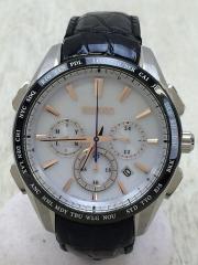 ソーラー腕時計/アナログ/WHT/BLK/SAGA217/ブライツ/ソーラー