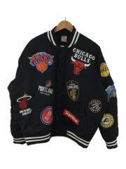 18SS/NBA Teams Warm-Up Jacket/スタジャン/L/ナイロン/BLK/AO3631-010