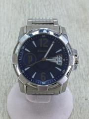 クォーツ腕時計/アナログ/3針/ラウンド/BLU