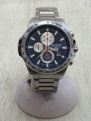 クォーツ腕時計/アナログ/--/BLU/SLV