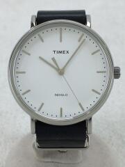 クォーツ腕時計/TW2P91300/アナログ/レザー/ホワイト/ブラック