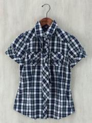 半袖シャツ/38/コットン/チェック
