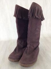 ブーツ/24.5cm/BRW/スウェード