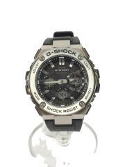 ソーラー腕時計・G-SHOCK/デジアナ/ラバー/BLK/BLK/SS