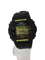 クォーツ腕時計/デジタル/ラバー/BLK/BLK/SS