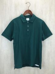 ポロシャツ/L/コットン/GRN