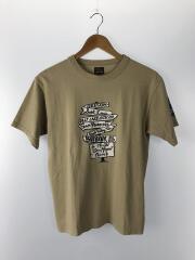 プリントTシャツ/38/コットン/KHK