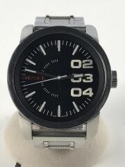 クォーツ腕時計/アナログ/ステンレス/SLV/BLK/DZ-1370