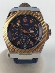 クォーツ腕時計/アナログ/キャンバス/NVY/IDG/W1058G1