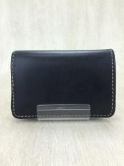 2つ折り財布/レザー/ブラック/黒/無地/メンズ