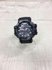 ソーラー腕時計・G-SHOCK/アナログ/ラバー/ブラックxブラック/