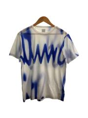 Tシャツ/S/コットン/WHT/総柄/Spray Logo/21SS