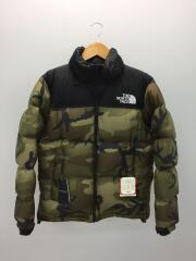 ダウンジャケット/Novelty Nuptse Jacket/M/ナイロン/カーキ/カモフラ/ND91842