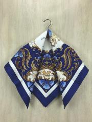 スカーフ/シルク/BLU