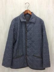 キルティングジャケット/40/ウール/GRY
