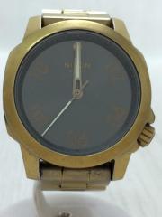 クォーツ腕時計/アナログ/RANGER40/レンジャー40/BLK/GLD