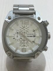 OVERFLOW/オーバーフロー/DZ-4203/クォーツ腕時計/アナログ/ステンレス/WHT/SLV