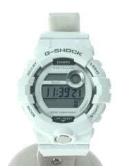 クォーツ腕時計・G-SHOCK/デジタル/ラバー/WHT/WHT