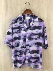WATER BLEED/オープンカラーシャツ/半袖シャツ/2/ポリエステル/パープル/100302009