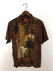 19AW/Secret World Rayon S/S Shirt/シュプリーム/S/レーヨン/ブラウン/総柄