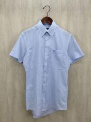 半袖シャツ/--/39/コットン/BLU/ストライプ