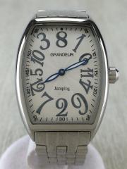 自動巻腕時計/アナログ/ステンレス/WHT/SLV