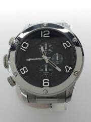 フランテンプス/クォーツ腕時計/アナログ/ブラック/シルバー/FTGCS-BK
