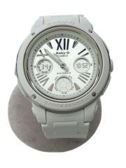 CASIO/腕時計/デジアナ/ラバー/シルバー/ホワイト/BGA-152