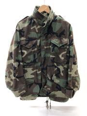 80S/M-65/フィールドジャケット/S/コットン/GRN/カモフラ/DLA100-87-C-0431
