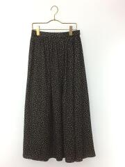20SS/ランダムドットギャザースカート/M/ポリエステル/BLK