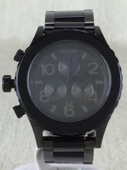 クォーツ腕時計/MINIMIZE/THE42-20CHRONO/アナログ/ステンレス/BLK/BLK
