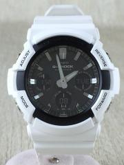 ソーラー腕時計・G-SHOCK/デジアナ/ラバー/BLK/WHT