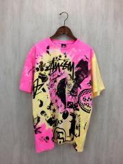 Tシャツ/XL/コットン/PNK/タイダイ柄
