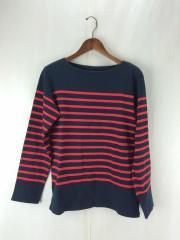 長袖Tシャツ/S/コットン/NVY/ボーダー/SOPH-110085