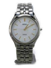 クォーツ腕時計/アナログ/ステンレス/WHT/8J41-6030/DOLCE/箱+コマ有