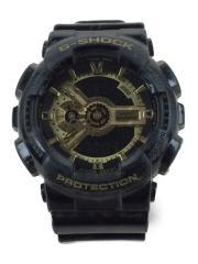クォーツ腕時計・G-SHOCK/デジアナ/BLK/GA-110GB-1AJF