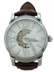 自動巻腕時計/アナログ/レザー/WHT/BRW/OR-0011N